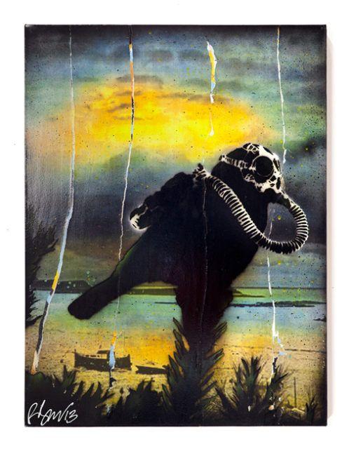 Rene Gagnon Nuclear Winter Stencil