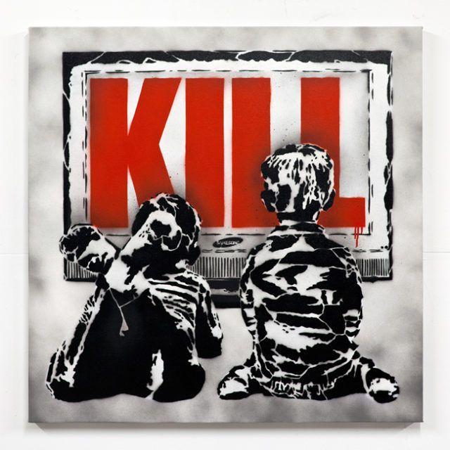 Rene Gagnon Kill Stencil URBAN NATION