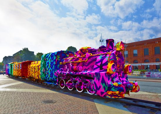 Olek Train URBAN NATION Museum