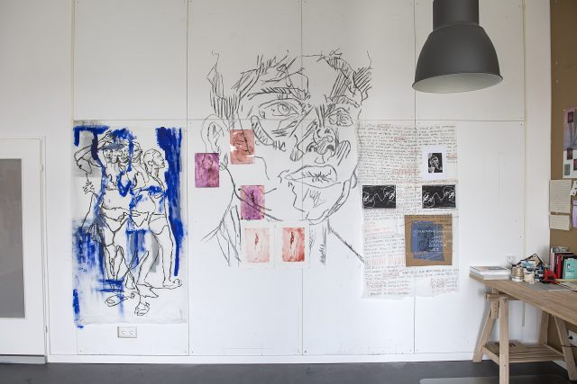 Anietie Ekanem Künstlerresidenz mit Kunstwerk