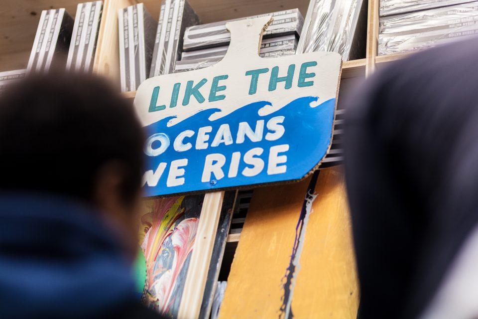 protest banner workshop