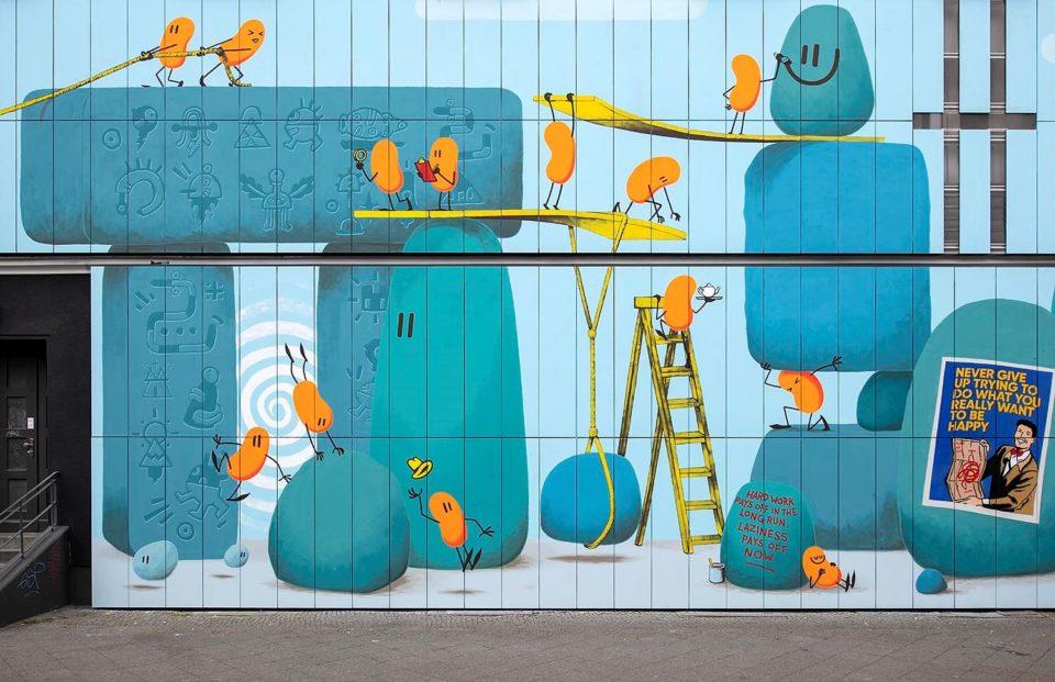 Dave the Chimp Mural Berlin