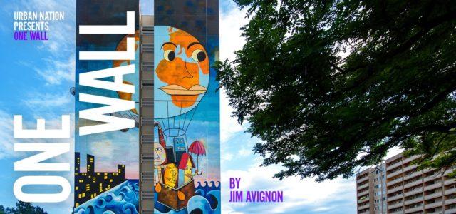 Websiteheader Wandbild von Jim Avignon en