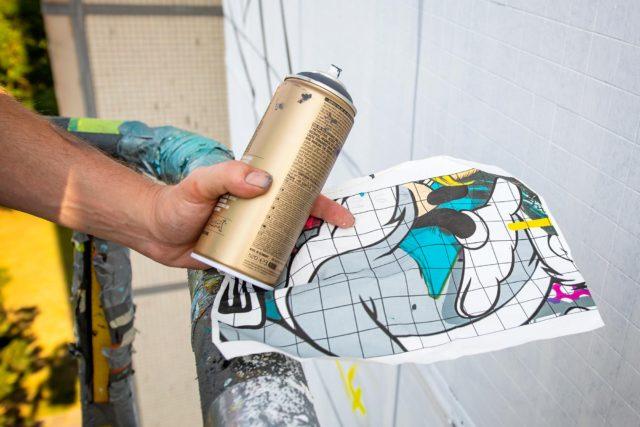 BustArt sketch mural