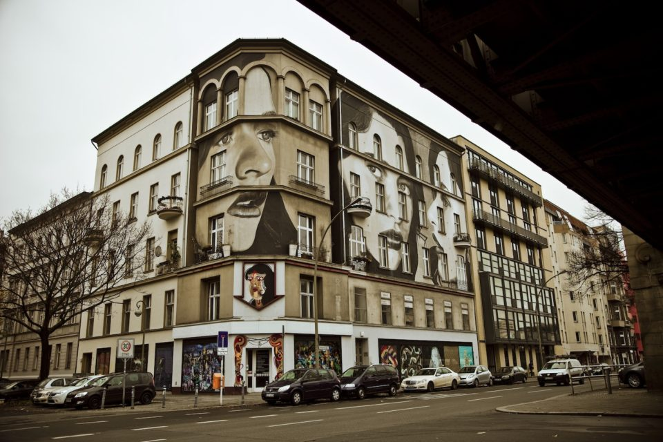 Urban Nation Museum facade by Rone