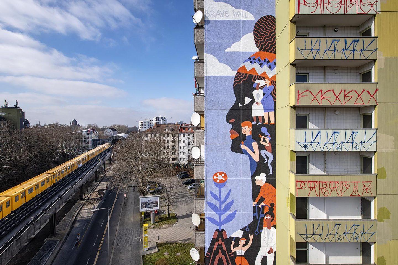 Brave Wall by Katerina Voronina, Berlin, Mural, Amnesty International, Urban Nation, One Wall, Street Art, Urban Art