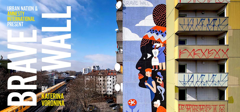 """""""Brave Wall"""" von Katerina Voronina Berlin"""