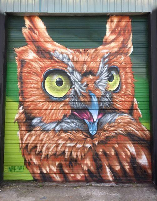 Justin Suarez MR PRVRT Owl Mural
