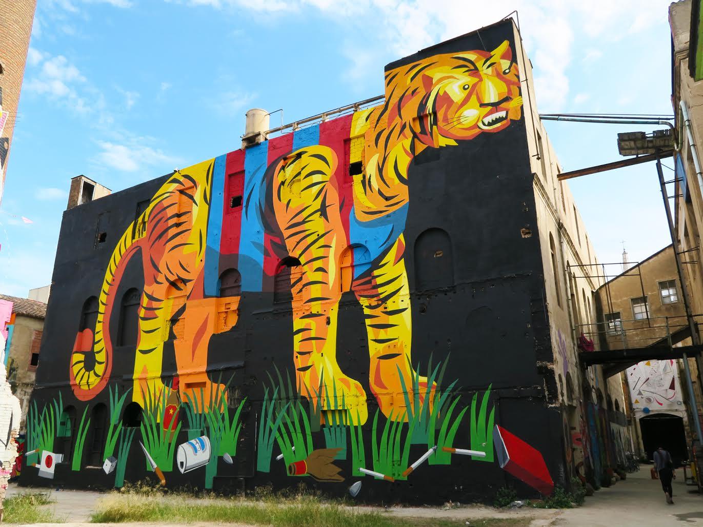 Franco Fasoli Jaz Project M Mural Tiger