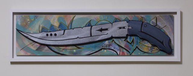 Khamoosh Knife Style Painting