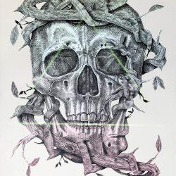 Alexis Diaz Skull URBAN NATION