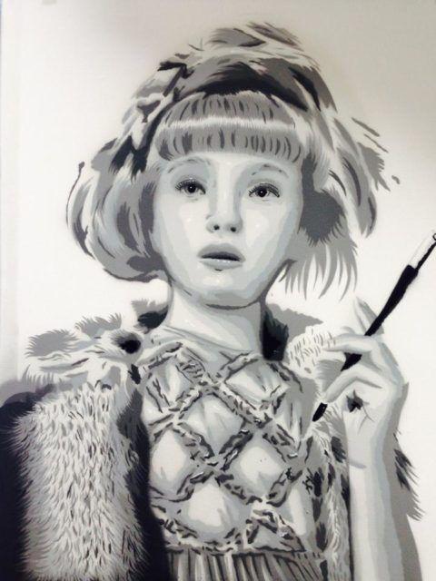Bàlu Girl Cigarette Stencil