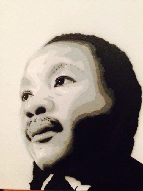 Bàlu Martin Luther King Stencil