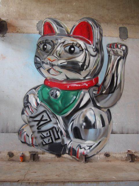 Fanakapan Lucky Cat URBAN NATION