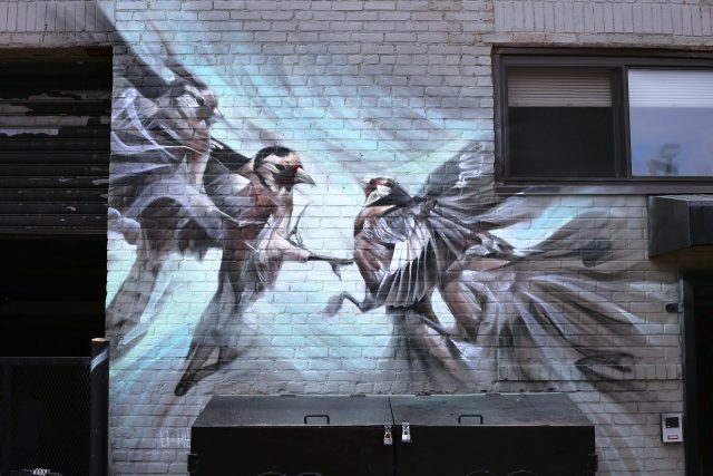 Aaron Li-Hill Casting Shadows Mural