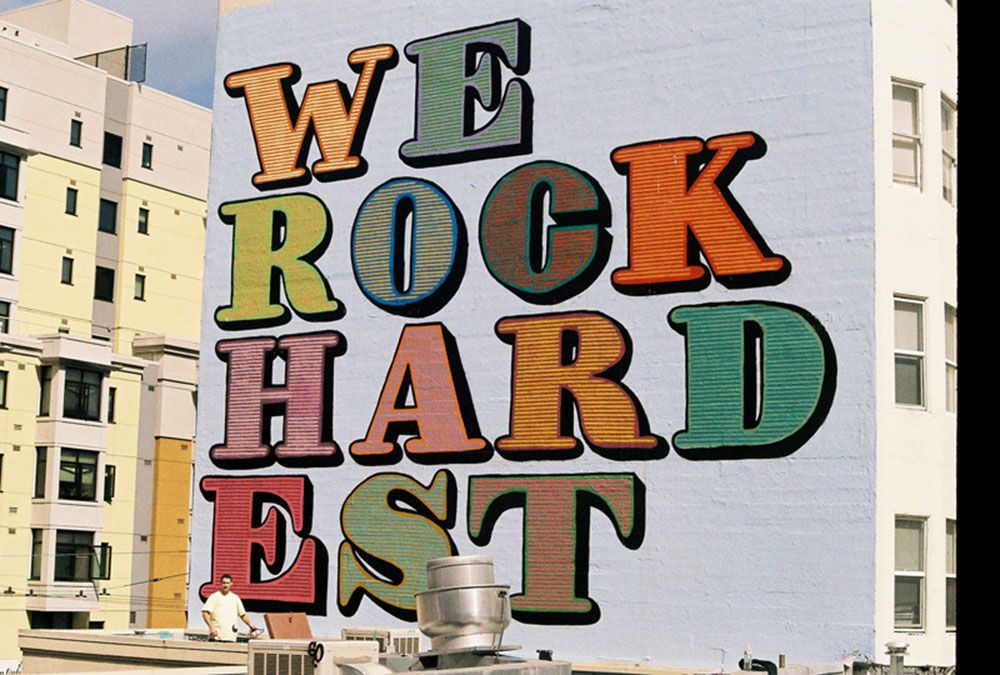 "Eine ""we rock hardest"" Mural Alphabet"