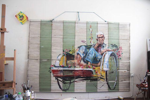Ernest Zacharevic Rickshaw UN Museum
