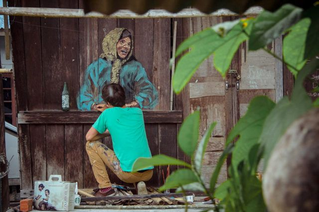Ernest Zacharevic Asia Mural