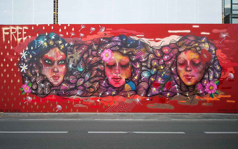 Project M/ Wandbild Mural PANMELA CASTRO