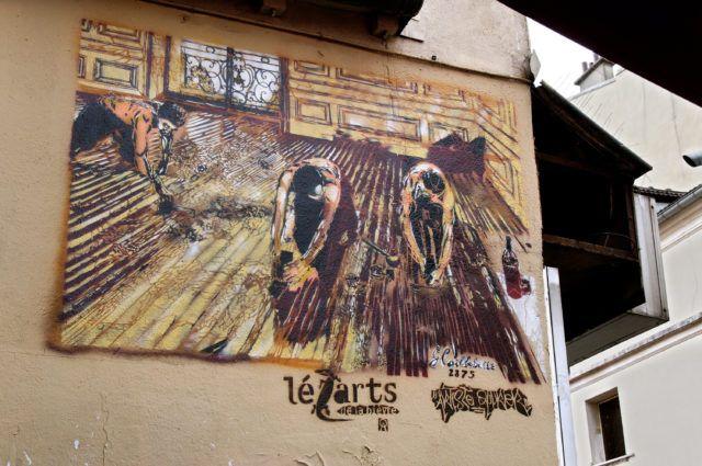 Artiste Ouvrier Caillebotte Stencil