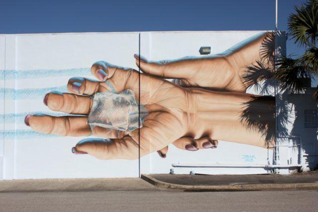 James Bullough Mural Hands