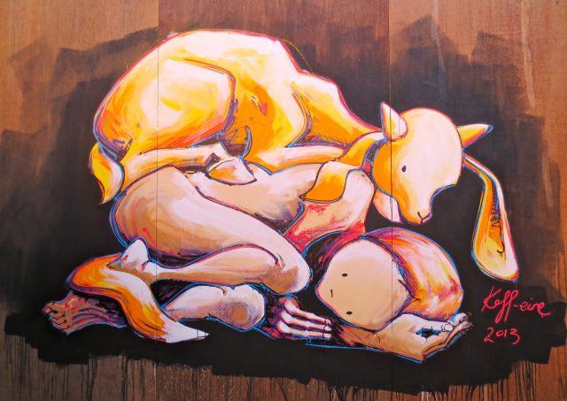 Kaff-eine Goat Burden