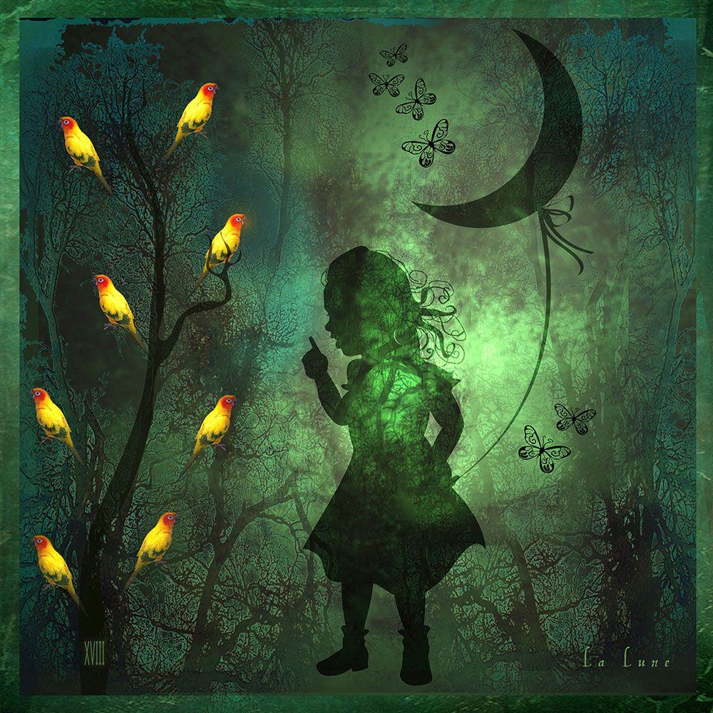 "Luisa Catucci ""Tarot XVIII La Lune"""