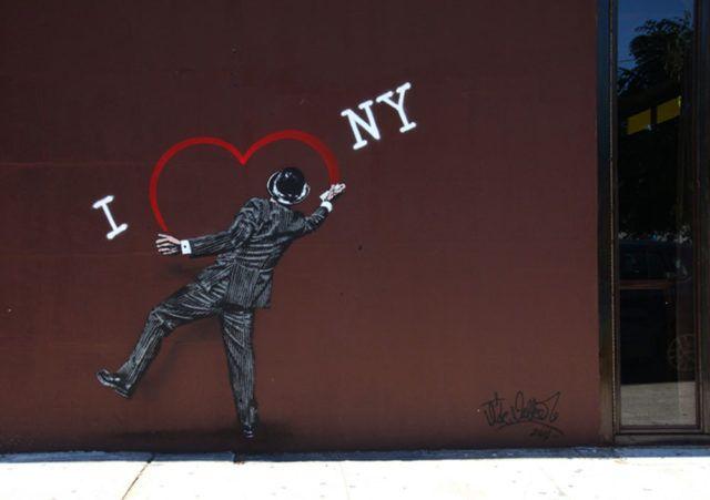 Nick Walker I Love New York Stencil