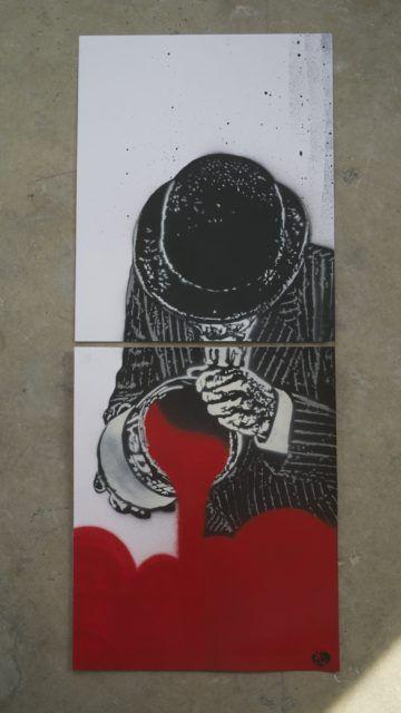 Nick Walker canvas paint stencil