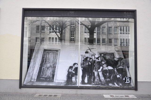 Levalet URBAN NATION Museum window