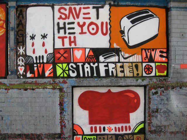 Sickboy Save the Youth urban art