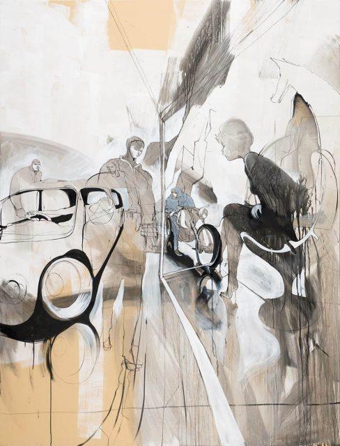 Steff Plaetz brush painting stencil