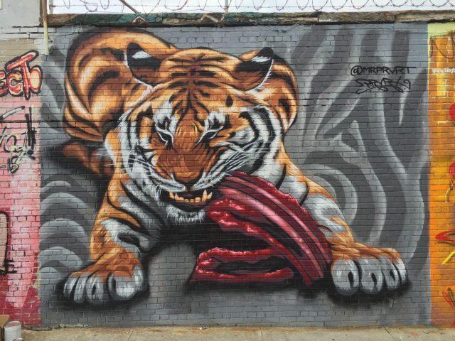 Justin Suarez MR PRVRT Tiger Mural