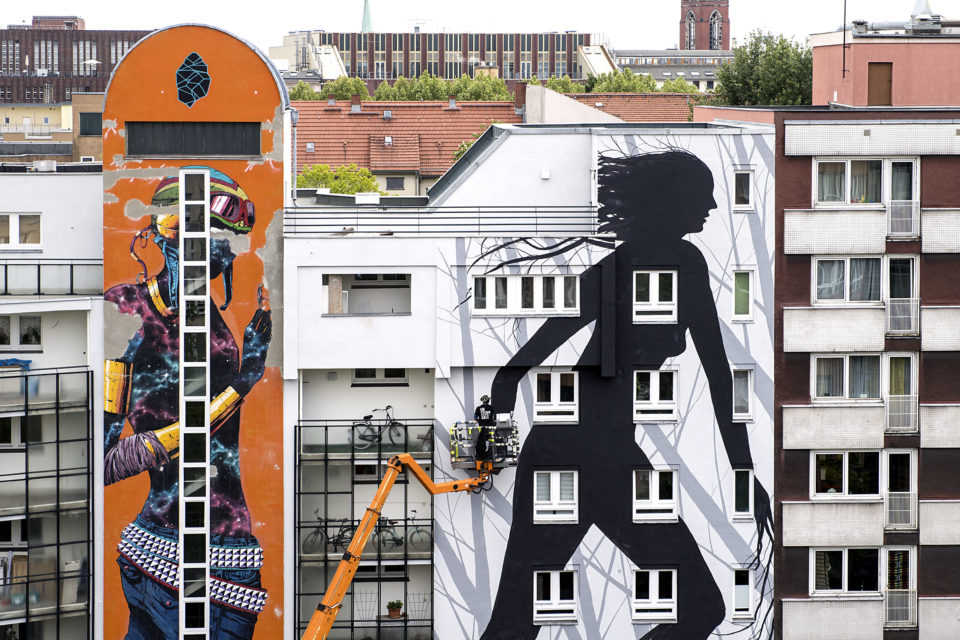 URBAN NATION Berlin. One Wall by David de la Mano. Urban Art. Street Art. Urban Contemporary Art. Mural.