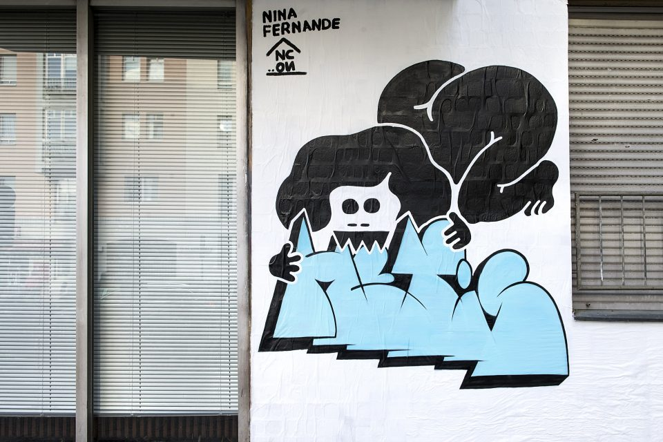 URBAN NATON Berlin. Community Wall. Nuno Viegas. Nina Fernande. Urban Art. Street Art. Urban Contemporary Art.