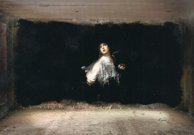 Ted Pim Abandoned School Sevilla Madonna Mural