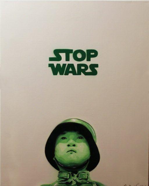 Bàlu Stop Wars Stencil UN