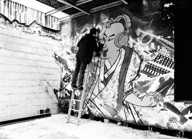 Stew Work in Progress Mural