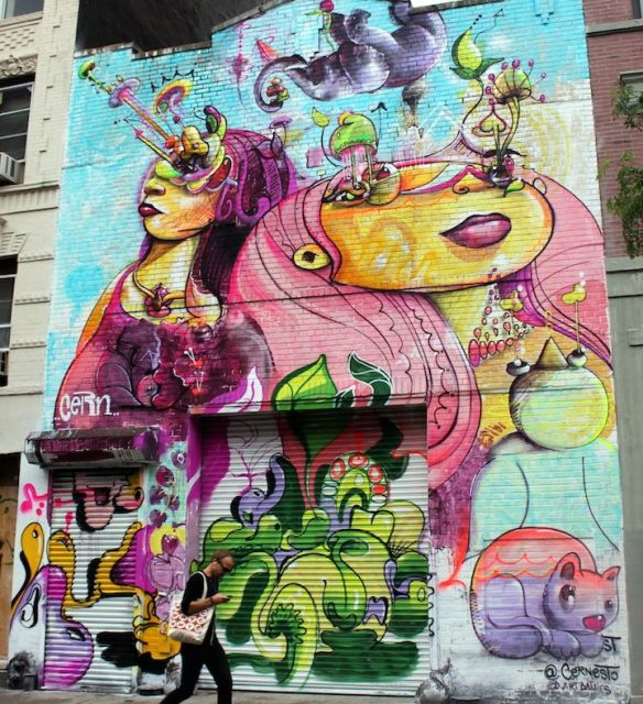 Cern Cernesto Mural East Village NYC