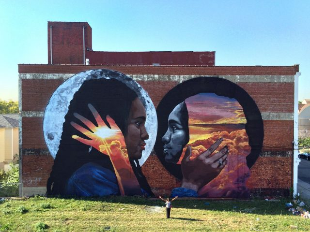 LNY Reflective Black Body Mural