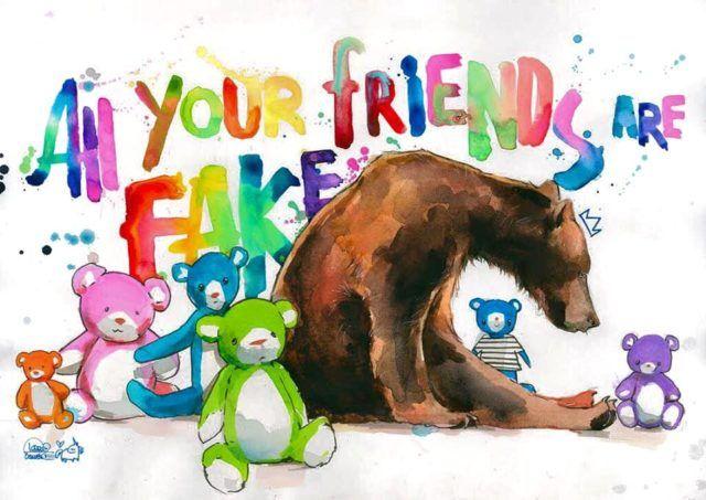 Lora Zombie Bear Friends WE BROKE NIGHT