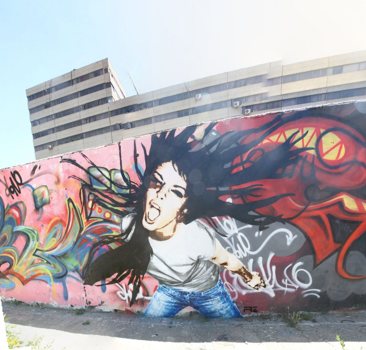 FRZ Scream Mural Iran